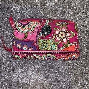Vera Bradley wallet in Pink Swirls pattern